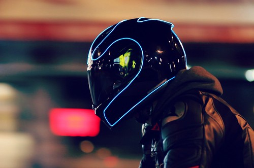 LightMode Electroluminescent Motorcycle Helmets More Rider Visibility