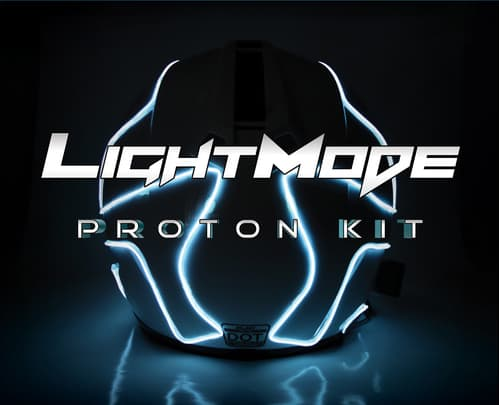 LightMode Electroluminescent Motorcycle Helmets Proton Kit Tron Inspired
