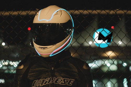 LightMode Electroluminescent Motorcycle Helmets Safer Ride with Glowing Helmets
