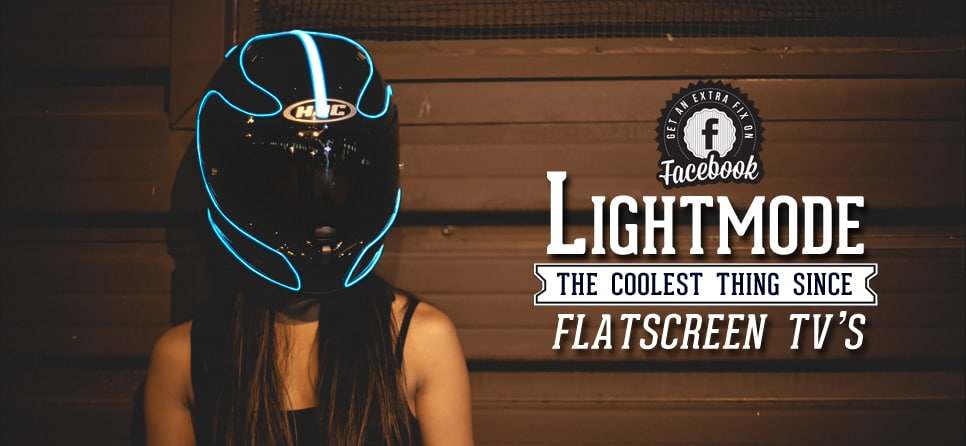 LightMode Electroluminescent Motorcycle Helmets Tron Kit