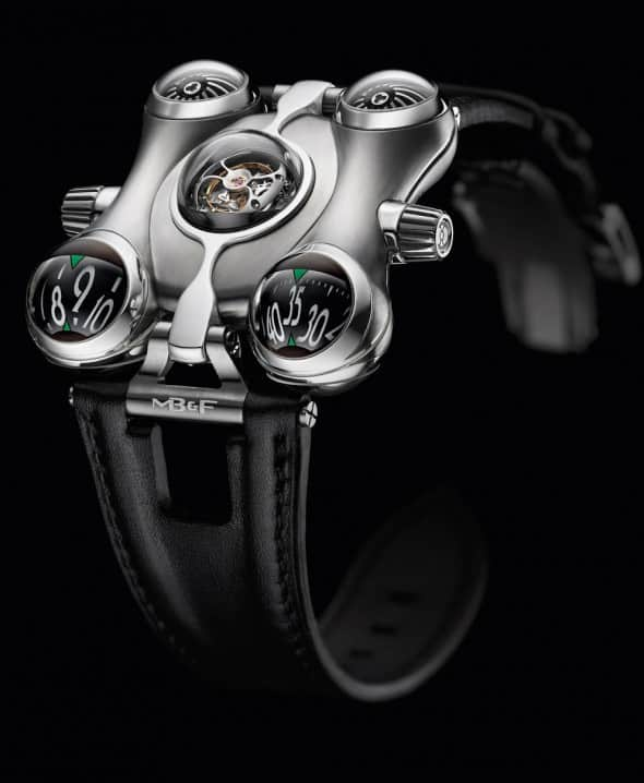 Futuristic space pirate engine in a watch.
