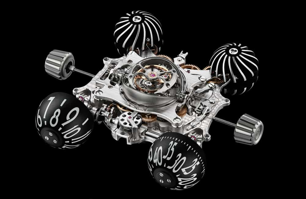 MB&F Horological Machine No.6 (HM6) Space Pirate Watch Exotic Engine Top