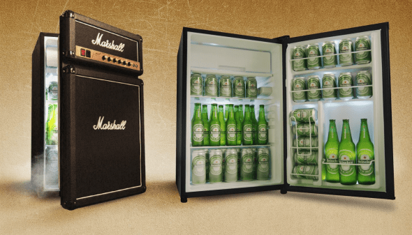 Marshall Fridge by Marshall Amplification Cool Stuff to Buy for Musicians