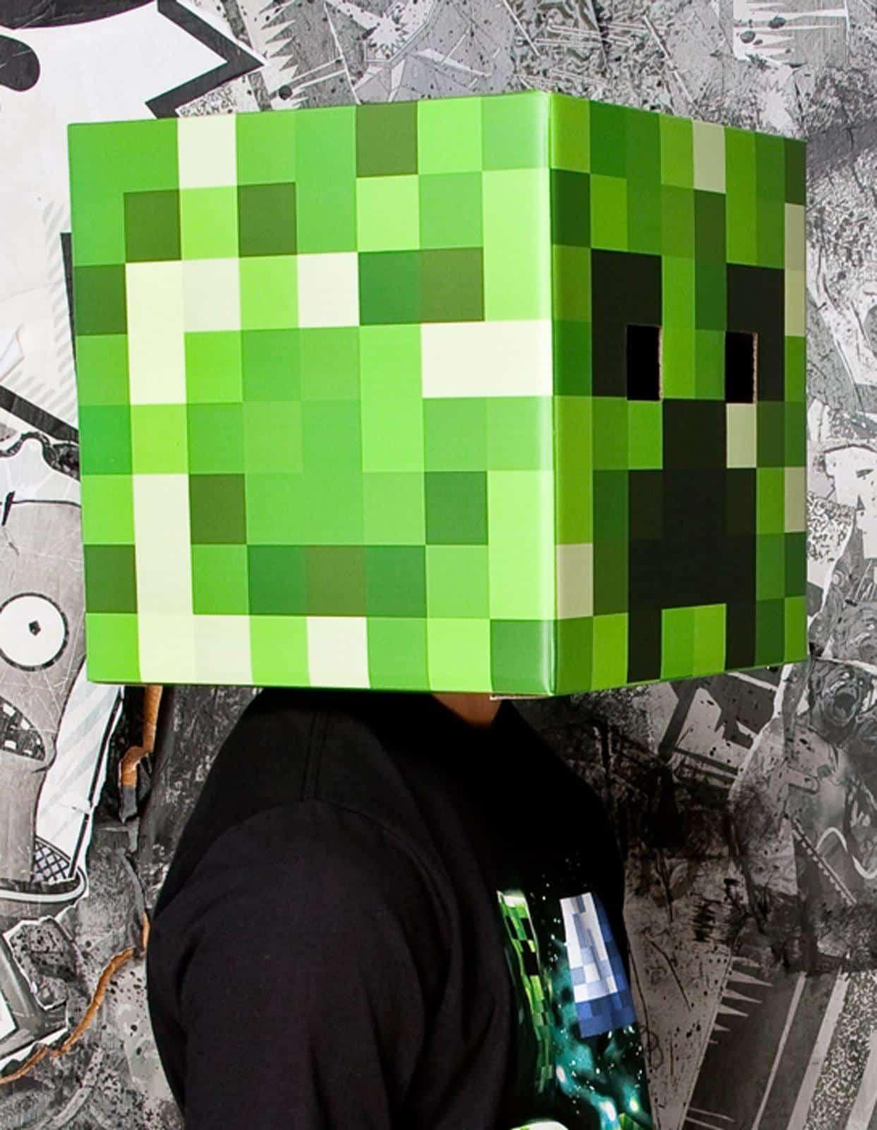 Minecraft steve creeper head costume noveltystreet - Minecraft creeper and steve ...