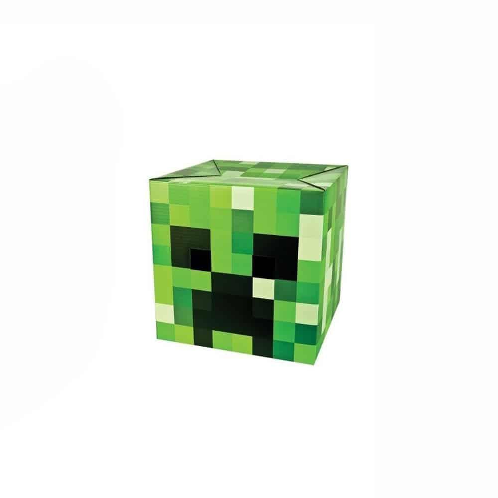 Minecraft Steve & Creeper Head Costume Weird Green Box