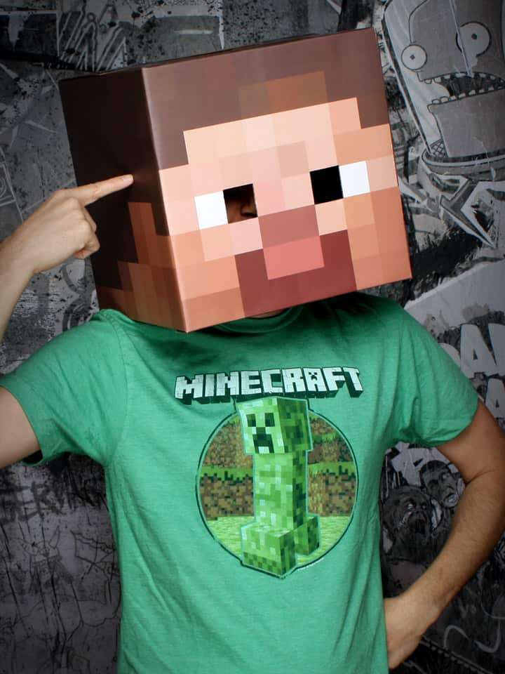Minecraft Steve & Creeper Head Costume Weird and Creepy Stuff to Buy for Kids