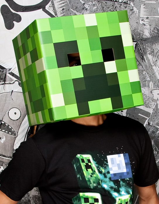 Minecraft Steve & Creeper Head Costume Weird and Creepy Stuff to Buy