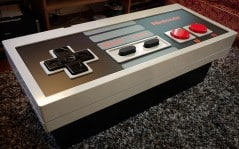 Fully functioning Nintendo controller table.