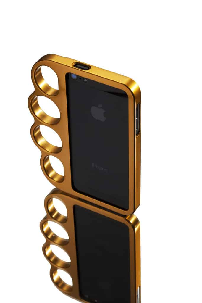 Original Solid Machined Aluminum Knucklecase Gold Cool Gift Idea for Her