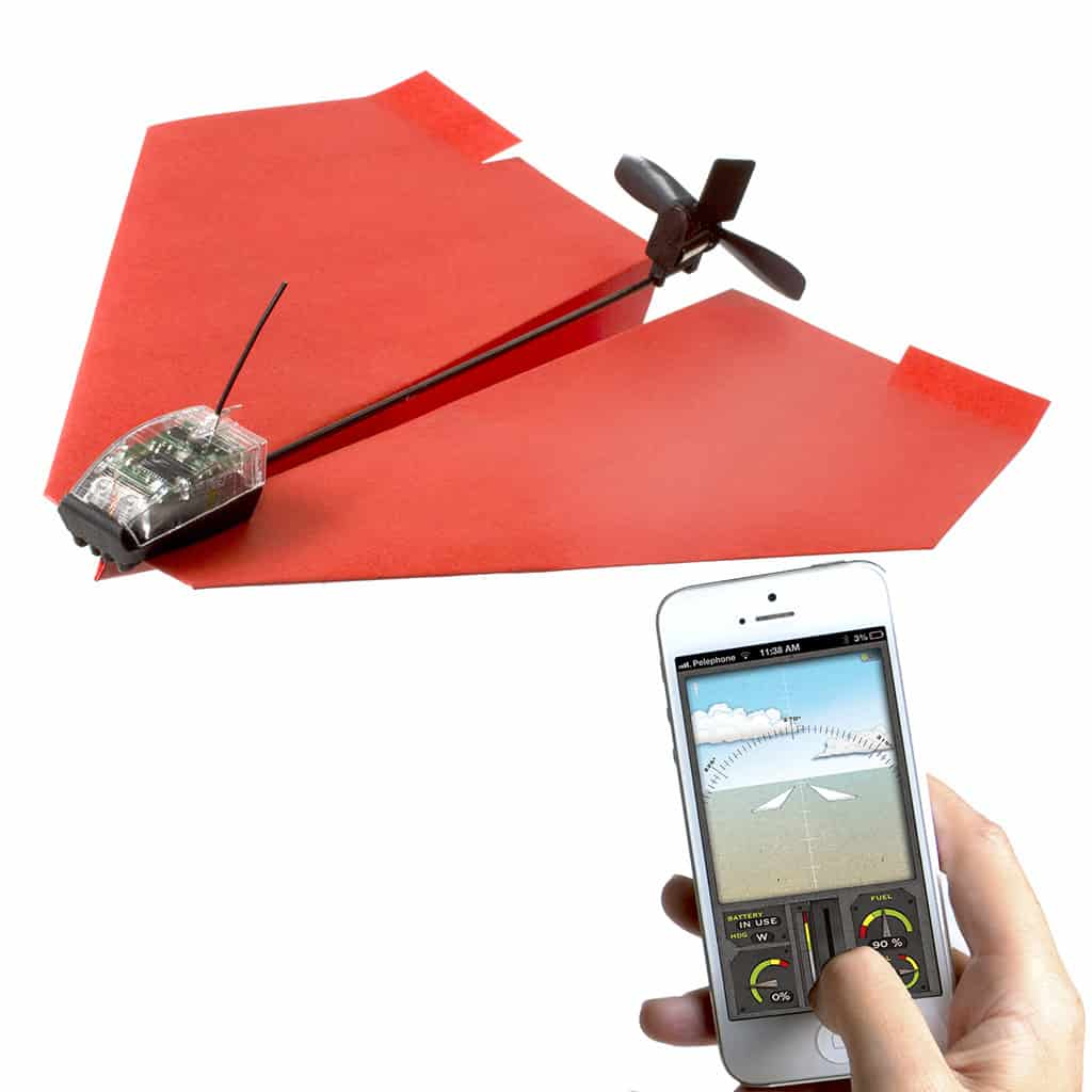 PowerUp 3.0 Smartphone Controlled Paper Airplane Creative Toy for Kids