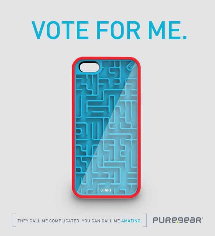 PureGear Gamer Case for iPhone Amazing Buy Blue and Red Maze Phone Cover