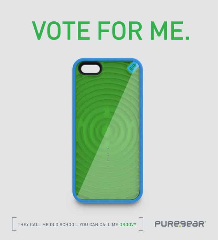 PureGear Gamer Case for iPhone Groove Buy Green and Blue Maze Phone Cover