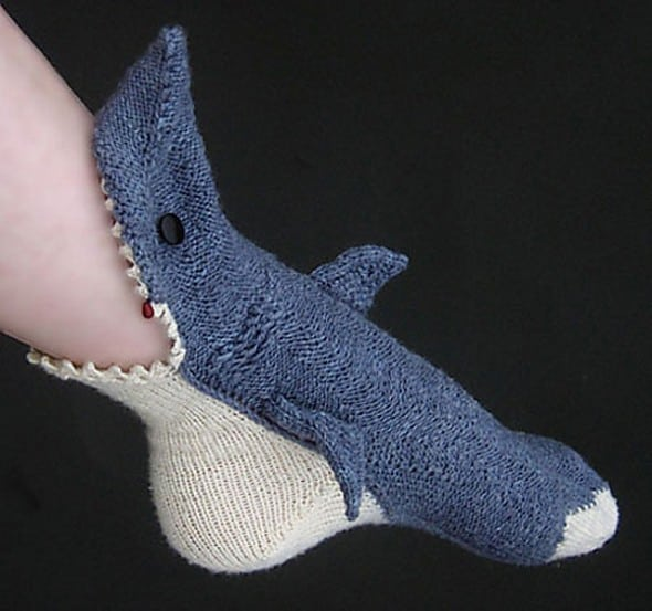 Shark Week Socks by Tsarina of Tsocks Cool Stuff You Cant Buy