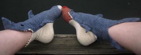 Shark Week Socks by Tsarina of Tsocks Unique Gift Idea