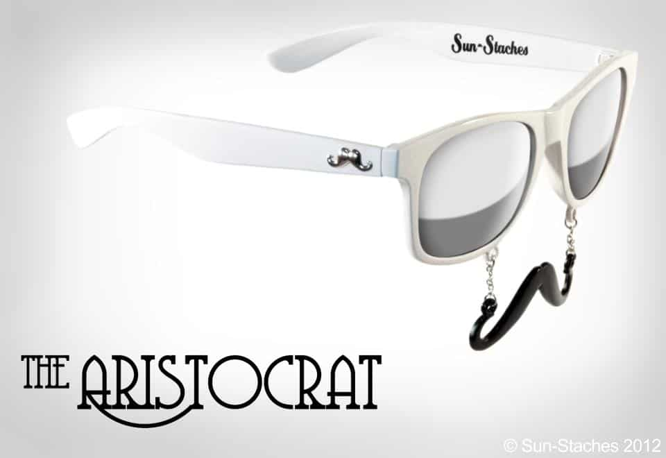 Sun-Stache Sunglasses Buy Cool White Hipster Glasses