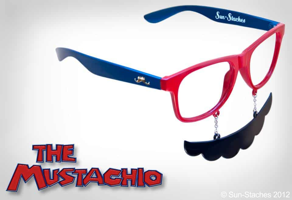 Sun-Stache Sunglasses Buy Mario Mustache and Glasses