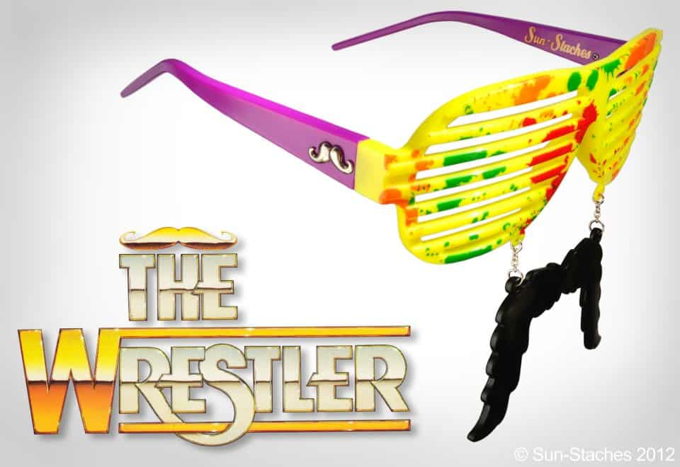 Sun-Stache Sunglasses Buy Wrestlemania Randy Savage Machoman Glasses