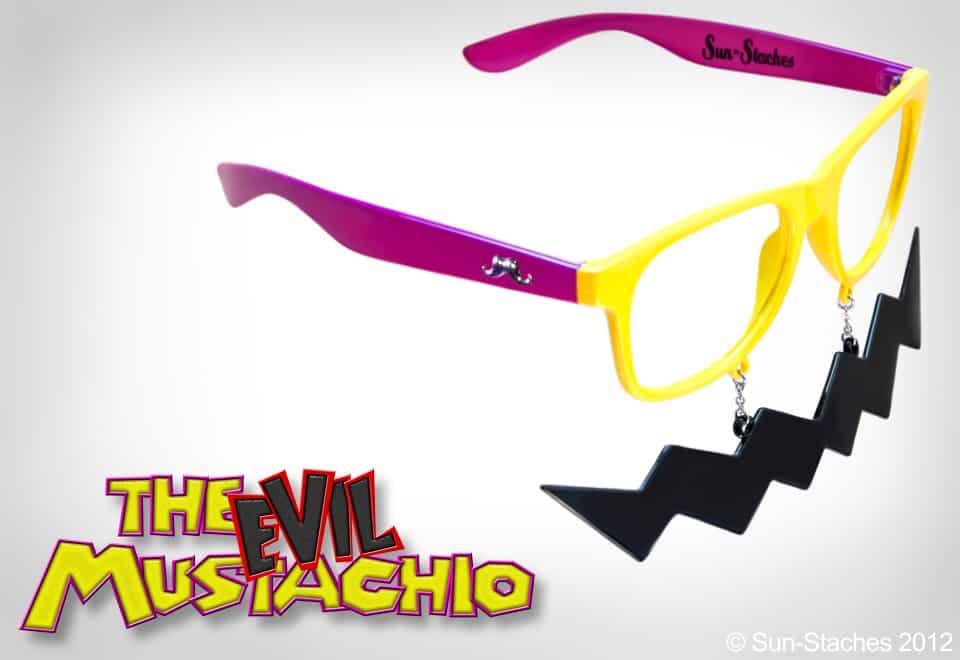 Sun-Stache Sunglasses Buy a Cool Wario Mustache Sunglasses