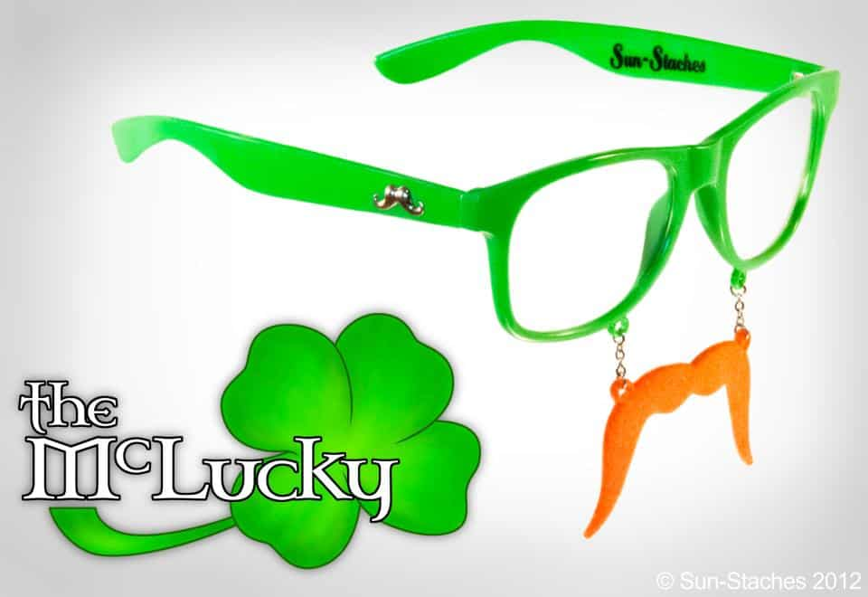 Sun-Stache Sunglasses Cool Costume to Buy for Saint Patricks