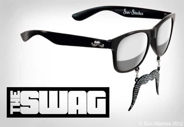 Sun-Stache Sunglasses Hipster Mustache