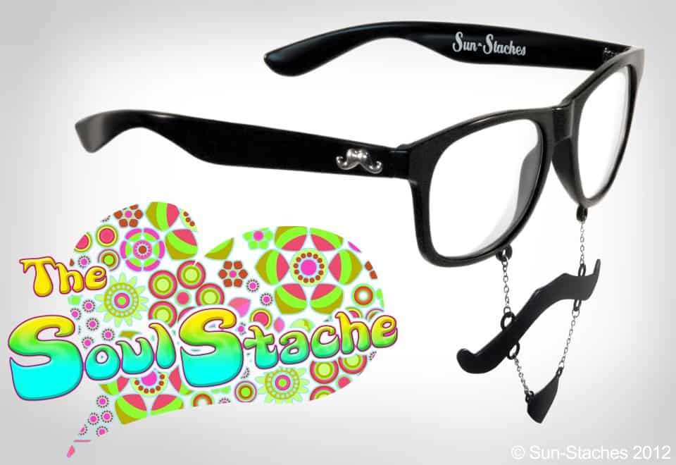 Sun-Stache Sunglasses Soul Stache 70s