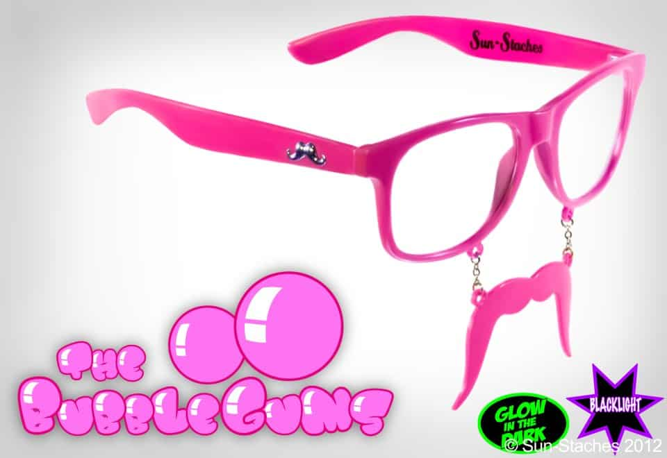 Sun-Stache Sunglasses The Bubblegum Cool Pink Stuff to Buy