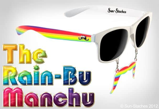 Sun-Stache Sunglasses The Rain-Bu Manchu Simple Costume to Buy