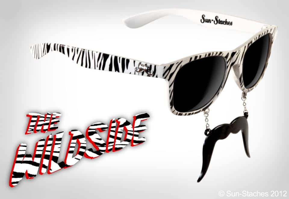Sun-Stache Sunglasses The Wildside Zebra Glasses