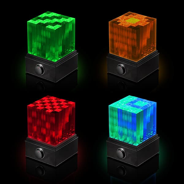 SuperNova Light Cube LED Bluetooth Speaker Disco Geeky Gift Idea