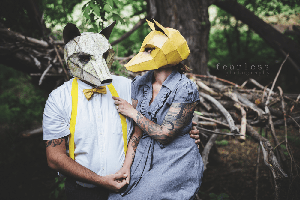Wintercroft Fox Mask Couple Costume Idea
