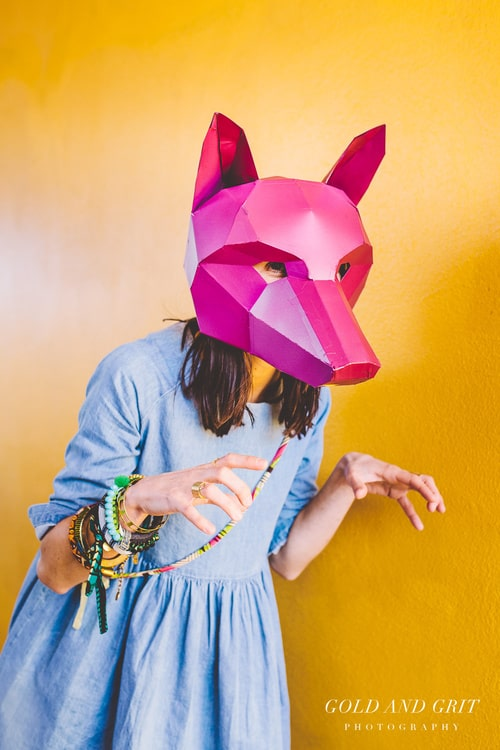 Wintercroft Fox Mask DIY Pink Mask
