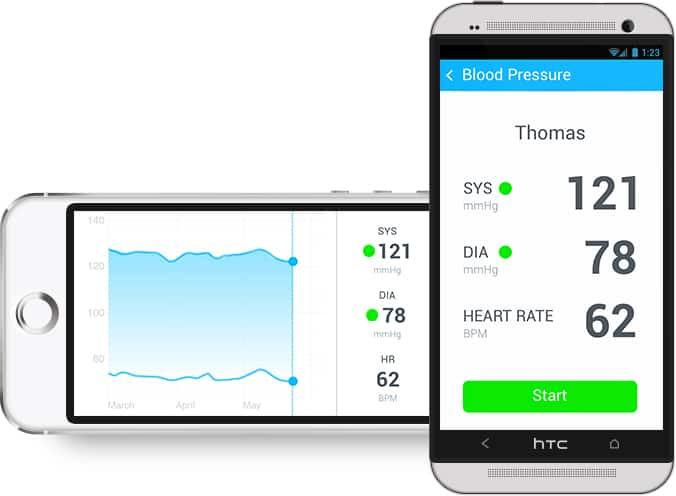 Withings Wireless Blood Pressure Monitor Health on Smart Phone