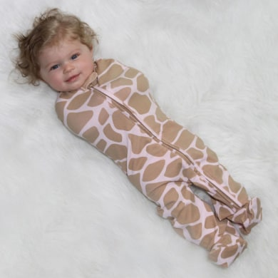 Woombie Convertible Swaddle Blanket Baby Straight Jacket Giraffe