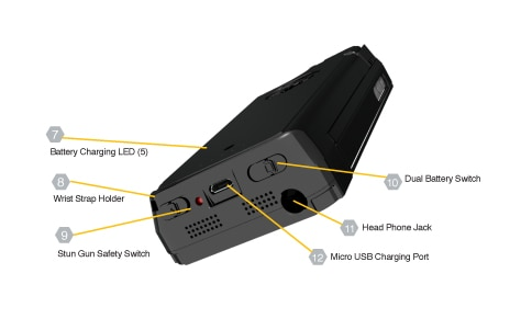 Yellow Jacket Stun Gun Case  LED Details