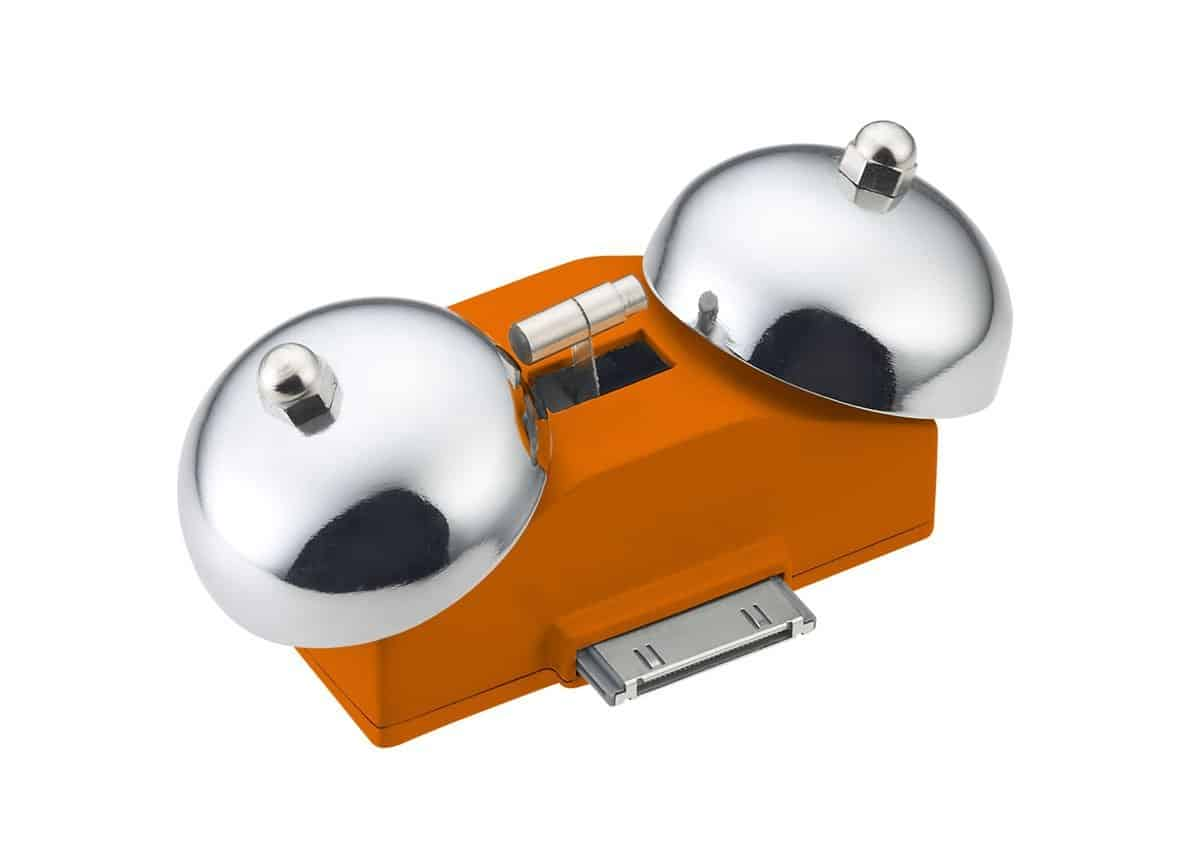 iBell Mini Wake Up Alarm for iPhone Orange