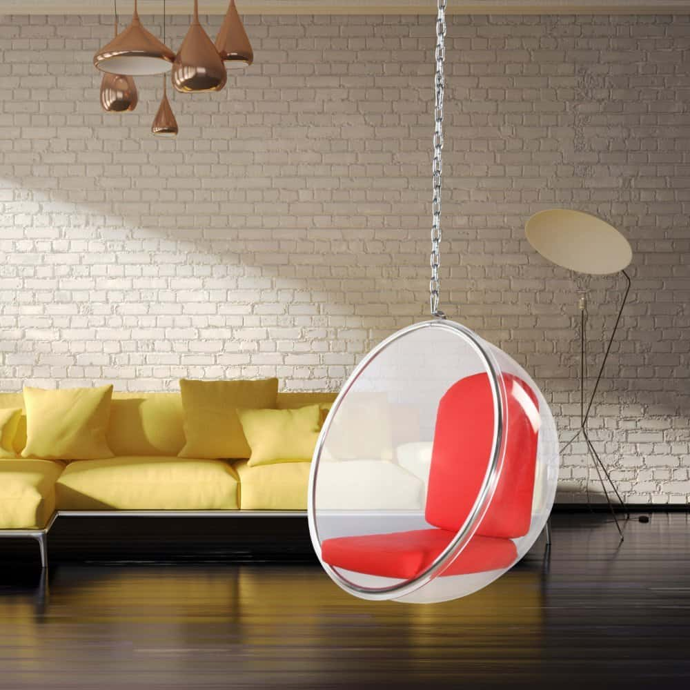 Hang safely in a bubble chair.
