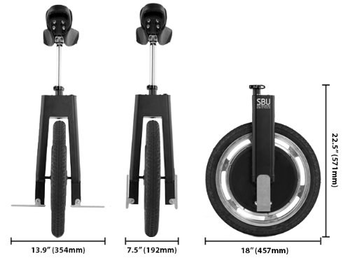 Focus Designs SBU V3 Self-Balancing Unicycle Bike Specifications