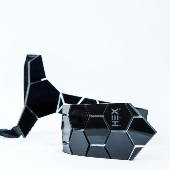 Hextie Honeycomb Space Black Tie Novelty Item