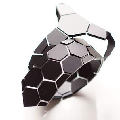 Hextie Honeycomb Space Black Tie Unique Gift Idea