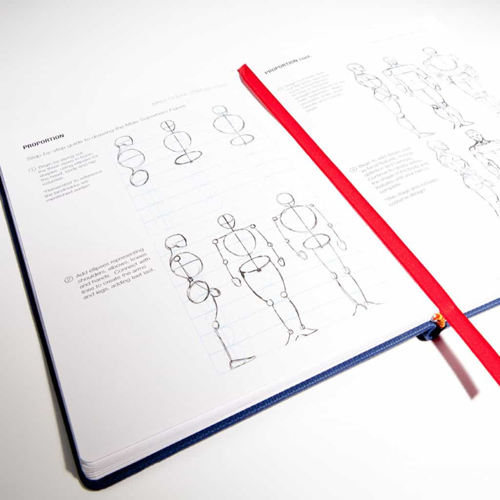 I Draw Comics Sketchbook and Reference Guide Human Proportion Page