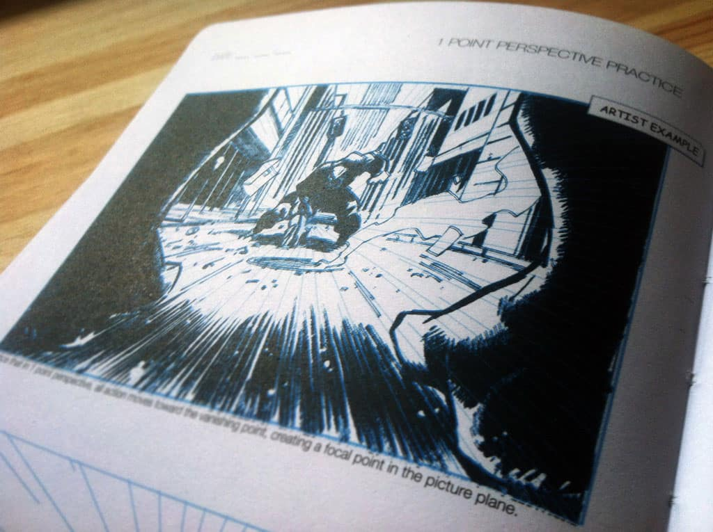 I Draw Comics Sketchbook and Reference Guide One Point Perspective