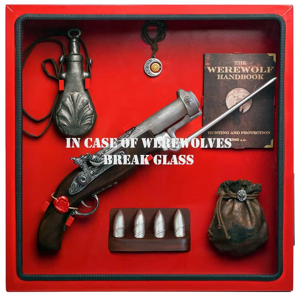 ICO Break Glass in case of Cabinets Cool Gift Idea for Werewolf Fan