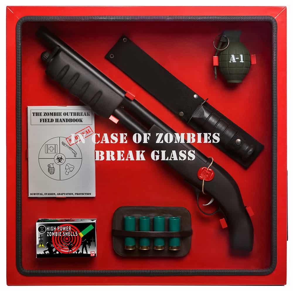 ICO Break Glass in case of Cabinets Unique Gift Idea for Kids Zombie Fan