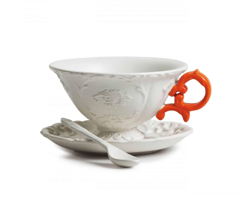 Seletti I Tea Cup  Orange Fancy Design