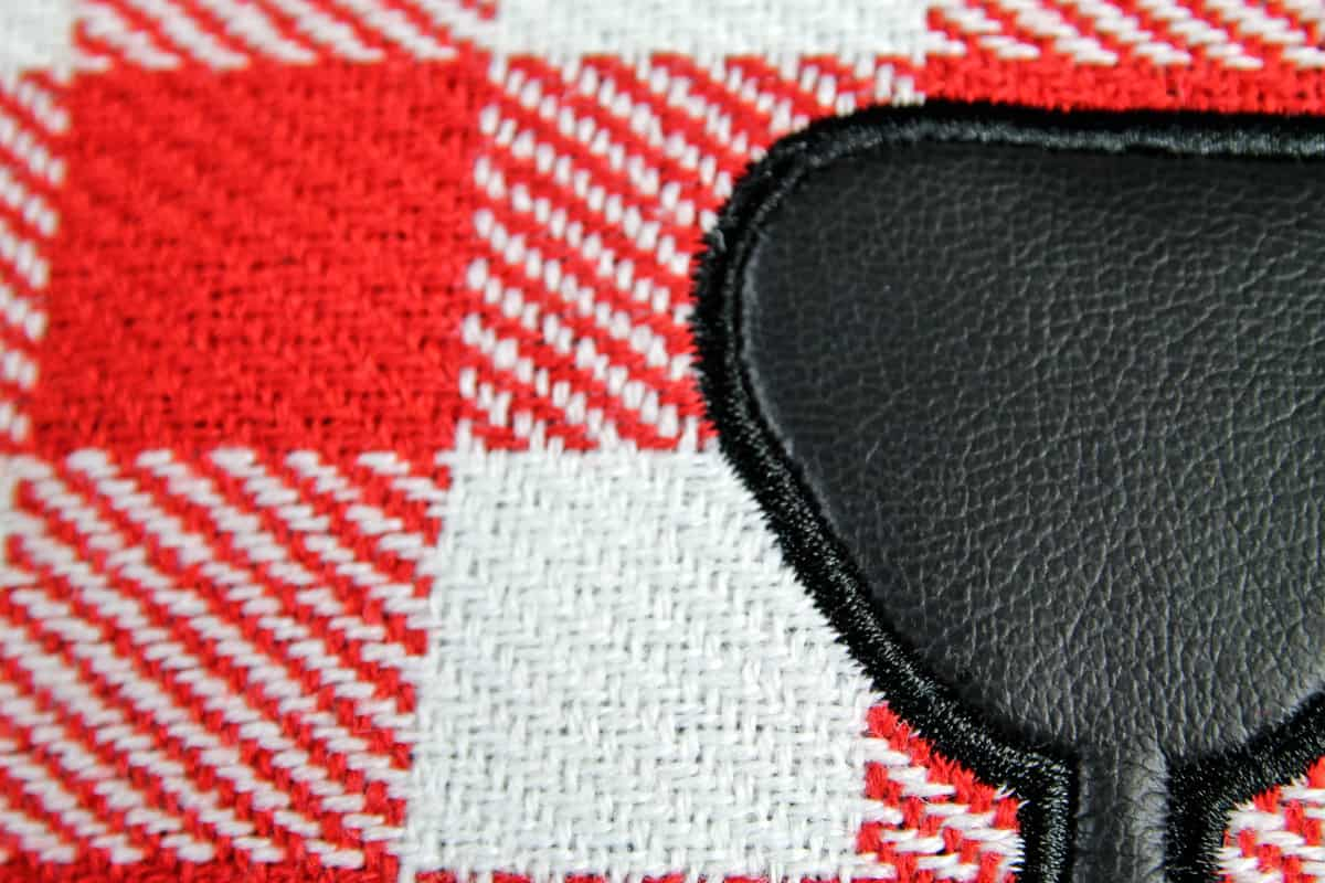 Suck UK Bear Skin Picnic Blanket Stichted Nose Detail