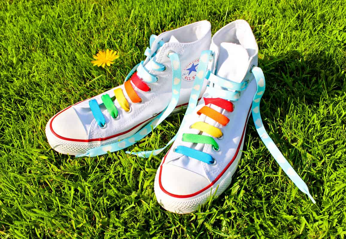 Suck UK Crazy Laces Rainbow Buy Cool Gift Idea for Girls