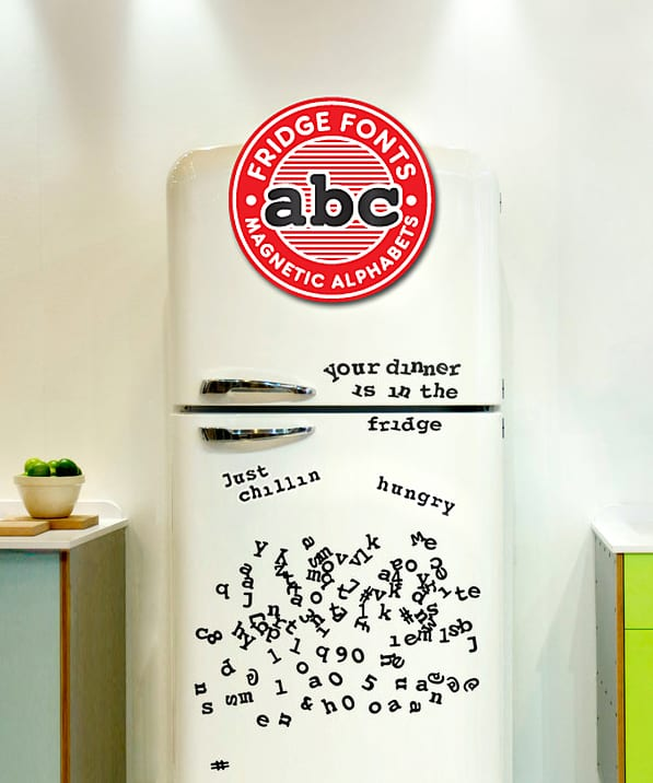 Say it fridge font style.