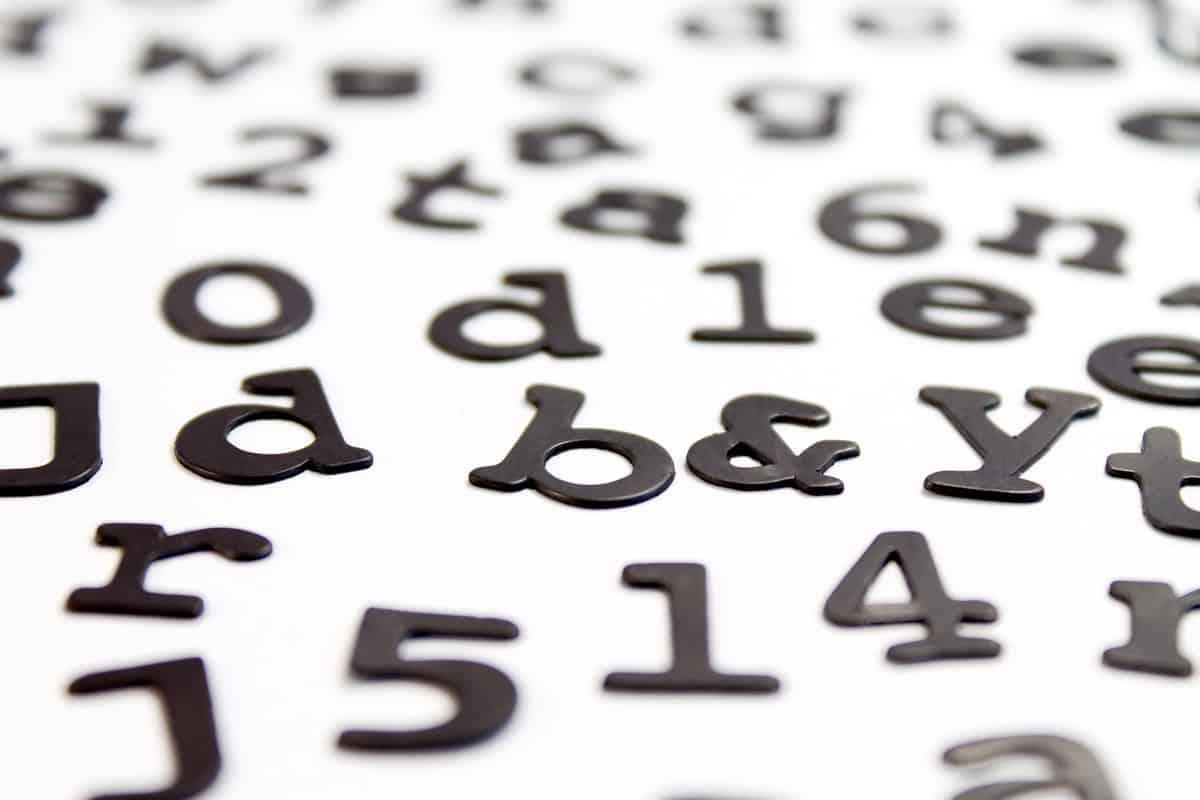 Suck UK Magnetic Fridge Fonts Letters