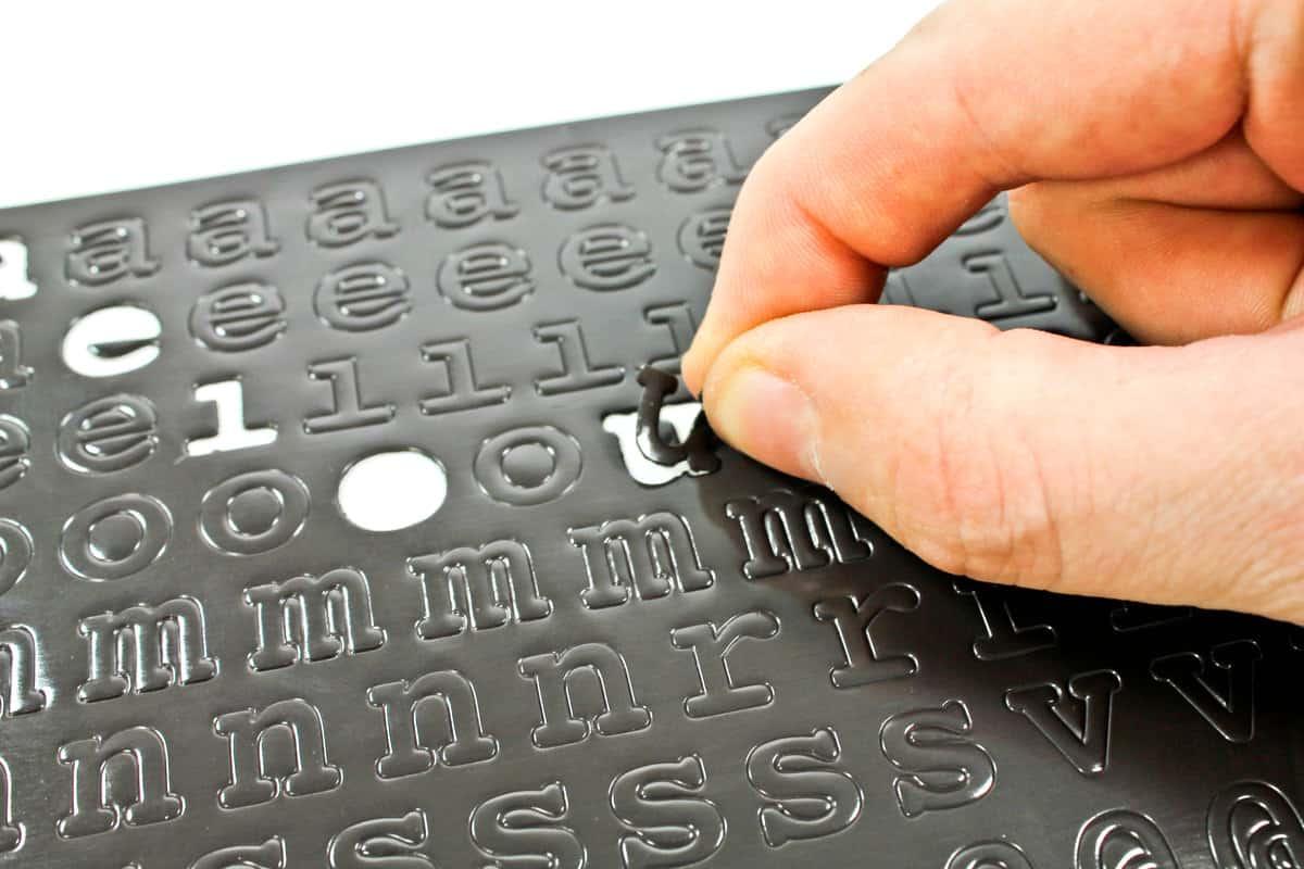 Suck UK Magnetic Fridge Fonts Peel Letters