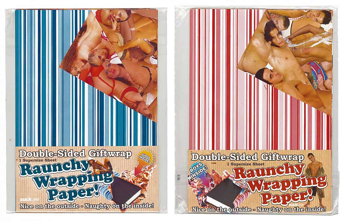 Suck UK Raunchy Wrapping Paper Gag Gift Wrapper Idea